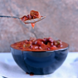 Manly Meaty Chili | Cravings of a Lunatic | #slowcooker #chili #gameday #footballfood #dinner