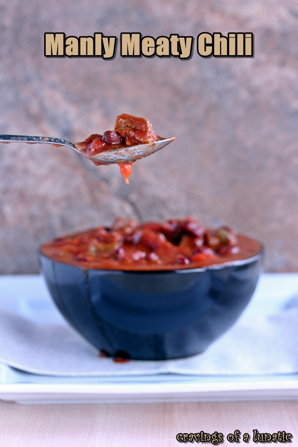 Manly Meaty Chili by Cravings of a Lunatic