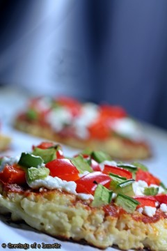 Cauliflower Pizza with Peppers
