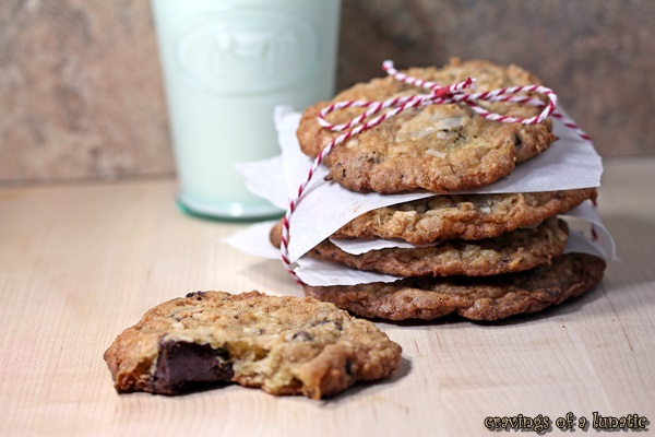 Coconut Chocolate Cookies by Cravings of a Lunatic