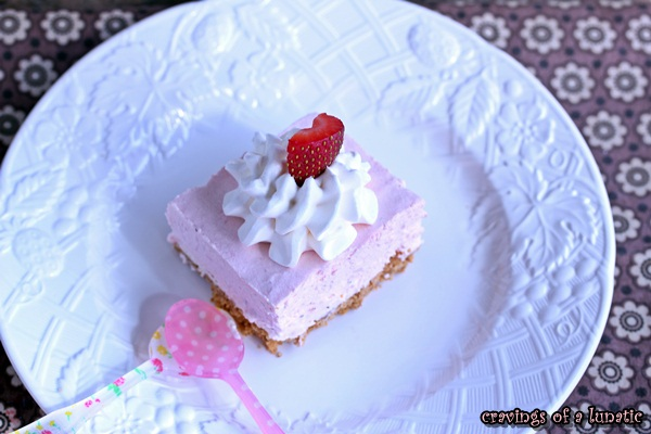 No Bake Strawberry Cheesecake by Cravings of a Lunatic