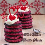 Red Velvet Cookie Stacks
