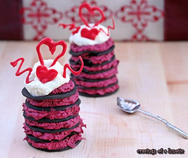 Red Velvet Cookie Stacks