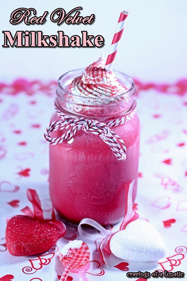 Red Velvet Milkshake Cravings of a Lunatic