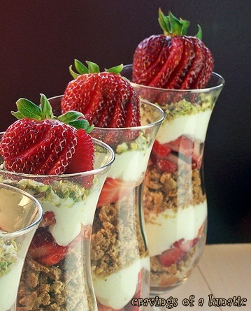 Strawberry Cannoli Parfaits by Cravings of a Lunatic