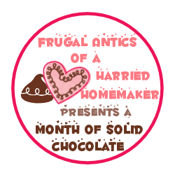Frugal Antics of a Harried Homemaker Badge for A Month of Solid Chocolate