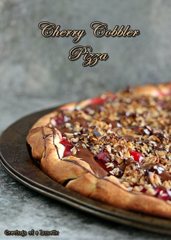 Guy Fieri's Cherry Cobbler Pizza for Pass the Cook Book Club | Cravings of a Lunatic