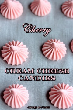 Cherry Cream Cheese Candies by Cravings of a Lunatic