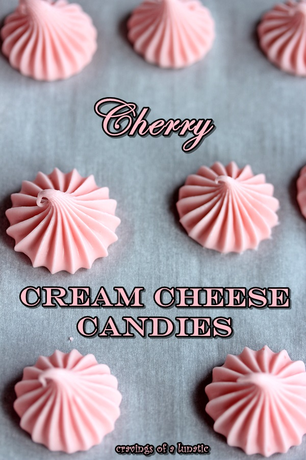 Cherry Cream Cheese Candies from cravingsofalunatic.com. Easy recipe to make cream cheese candies in just minutes. Perfect for holidays like Christmas and Easter.