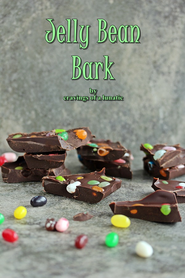 Easter Jelly Bean Bark by Cravings of a Lunatic