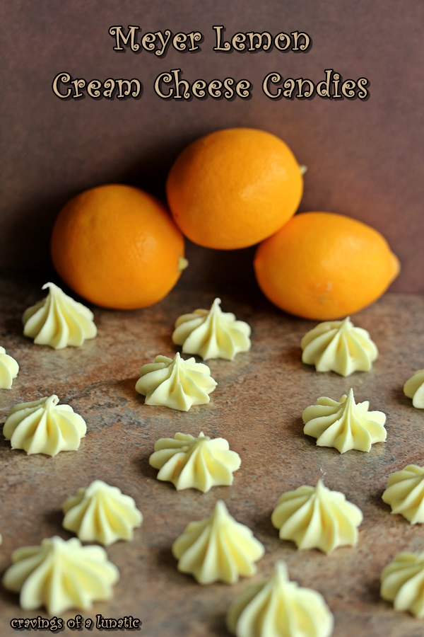 Meyer Lemon Cream Cheese Candies