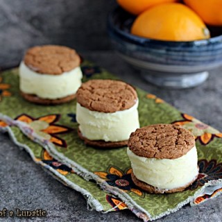 Meyer Lemon Ice Cream Sandwiches by Cravings of a Lunatic