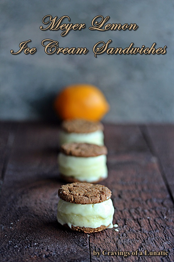 Meyer Lemon Ice Cream Sandwiches #SundaySupper | Cravings of a Lunatic