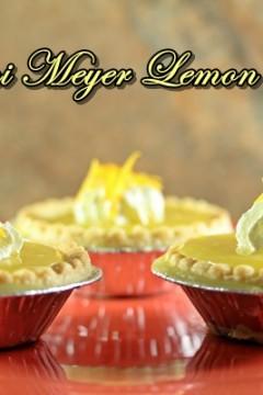 Mini Meyer Lemon Pies #SundaySupper