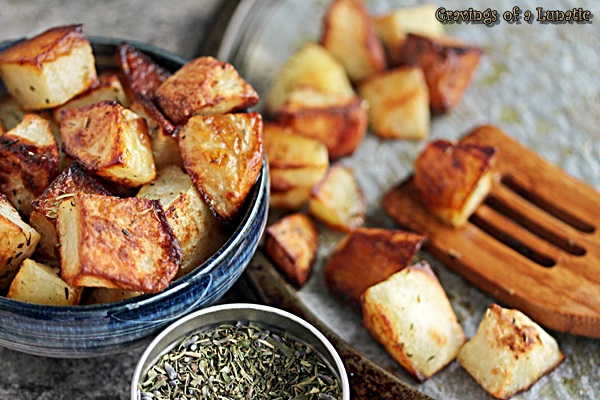 Roast Potatoes from Cravings of a Lunatic