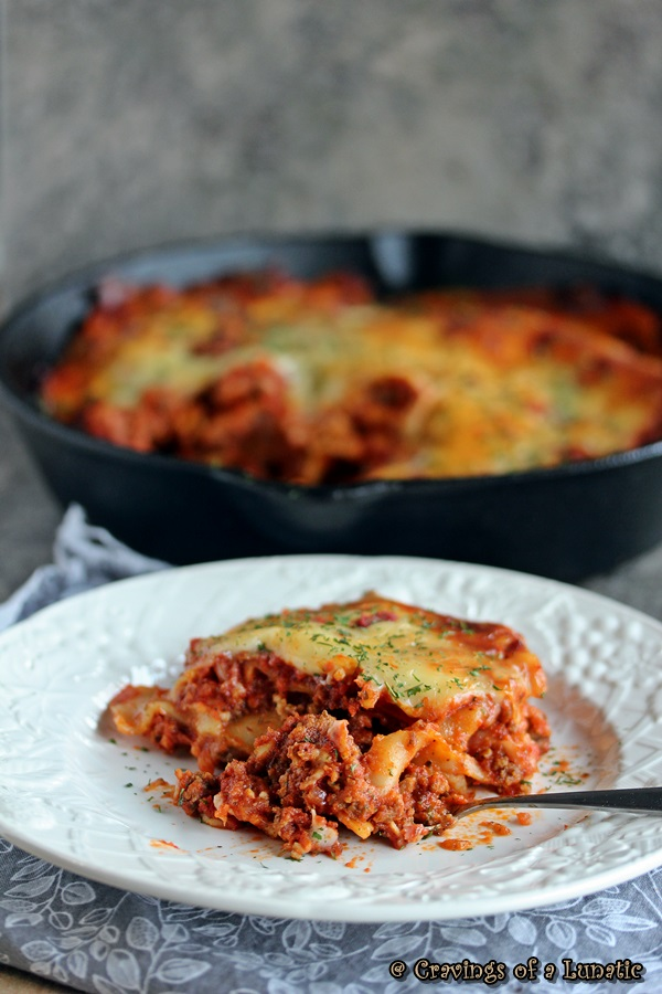 Skillet Lasagna by Cravings of a Lunatic