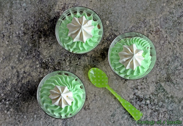 St Patricks Day Pistachio Mousse Cups