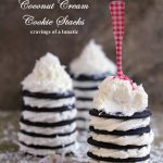 Coconut Cream Cookie Stacks by Cravings of a Lunatic