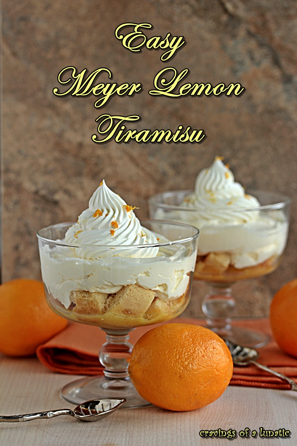 Easy Mini Meyer Lemon Tiramisu