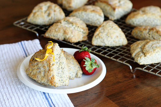 Glazed Lemon Poppy Seed Scones