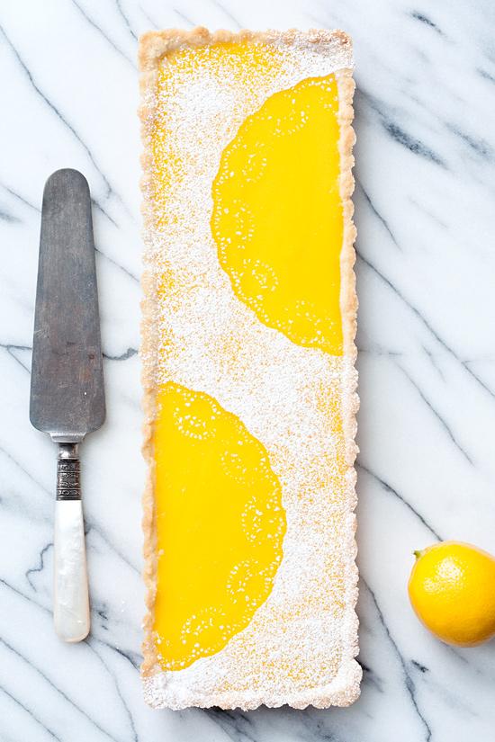Meyer Lemon Macadamia Nut Tart