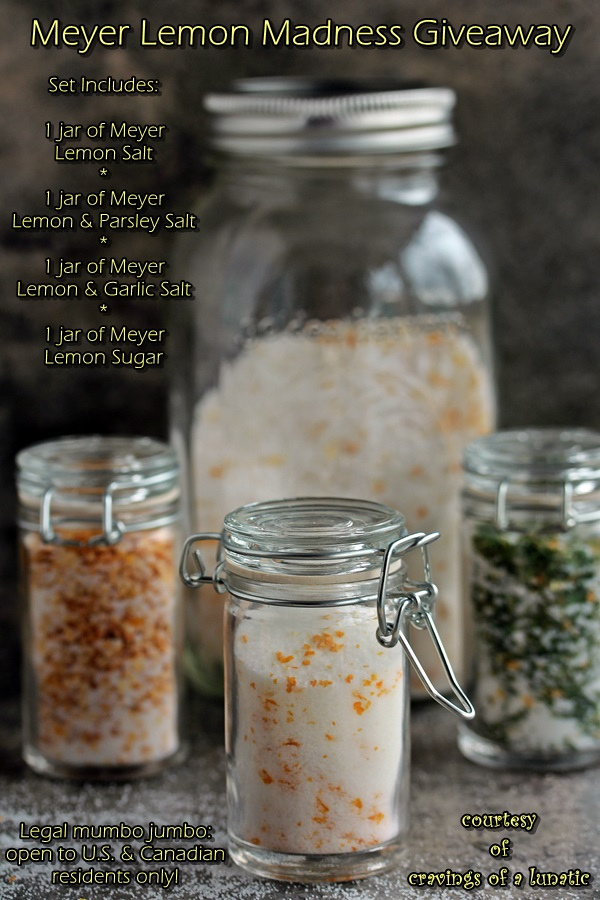 Meyer Lemon Salts and Sugar Giveaway