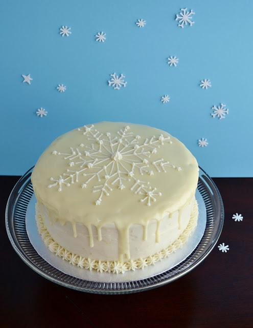 Meyer Lemon Snowflake Cake