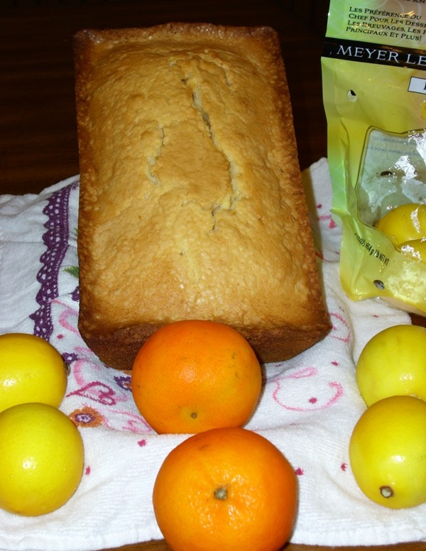 Meyer Lemon Tangerine Pound Cake