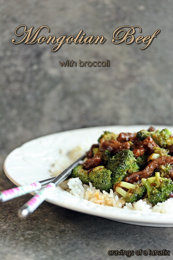 Mongolian Beef with Broccoli | Cravings of a Lunatic | #beef #broccoli #stirfry #asianrecipe #recipe #easyrecipe #mongolianbeef