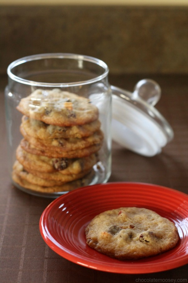 Bacon and Dried Cherry Chocolate Chip Cookies