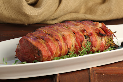 Bacon and Herb Wrapped Beef Tenderloin