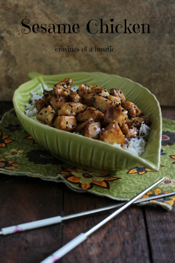 Sesame Chicken by Cravings of a Lunatic
