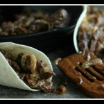 Spicy Steak Fajitas with Carameliized Shallots and Onions by Cravings of a Lunatic