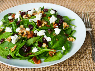 Spinach Salad with Bacon Dressing