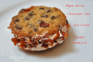 Maple Bacon Chocolate Chip Ice Cream Sandwich Cookies
