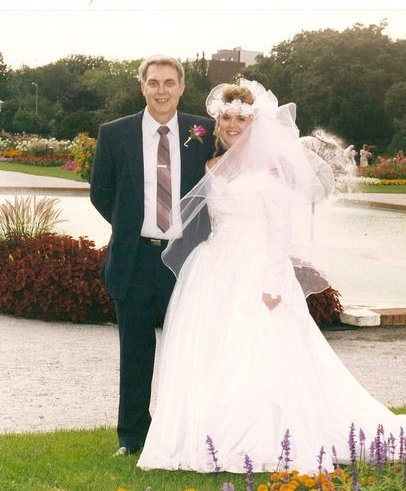 Dad and Me on my Wedding Day