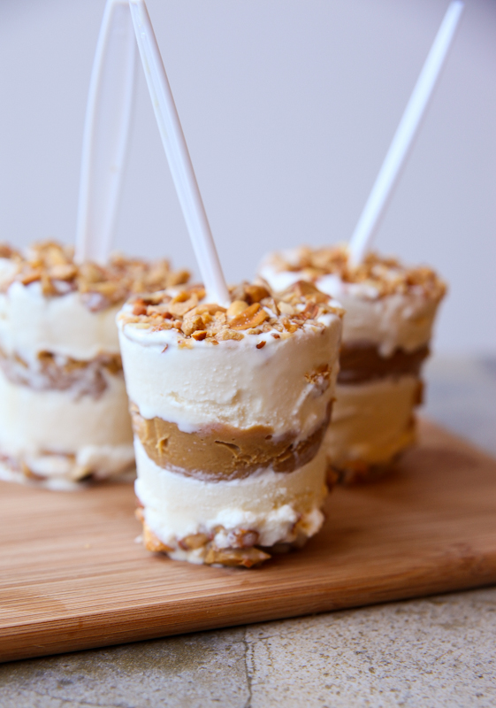 Layered Peanut Butter Brittle Ice Cream Pops by Better Recipes' Daily Dish