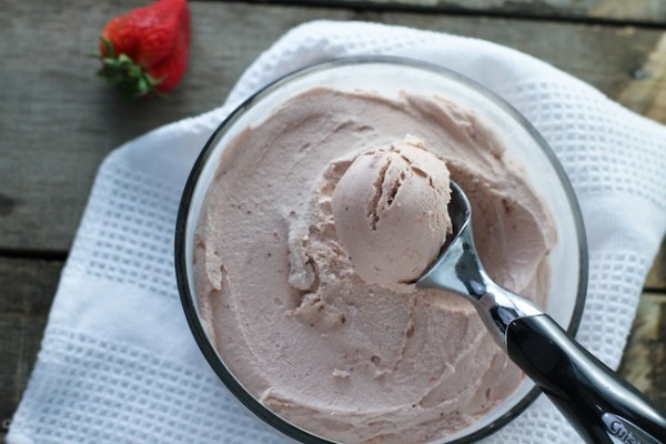 Balsamic Strawberry Ice Cream by Food Babbles