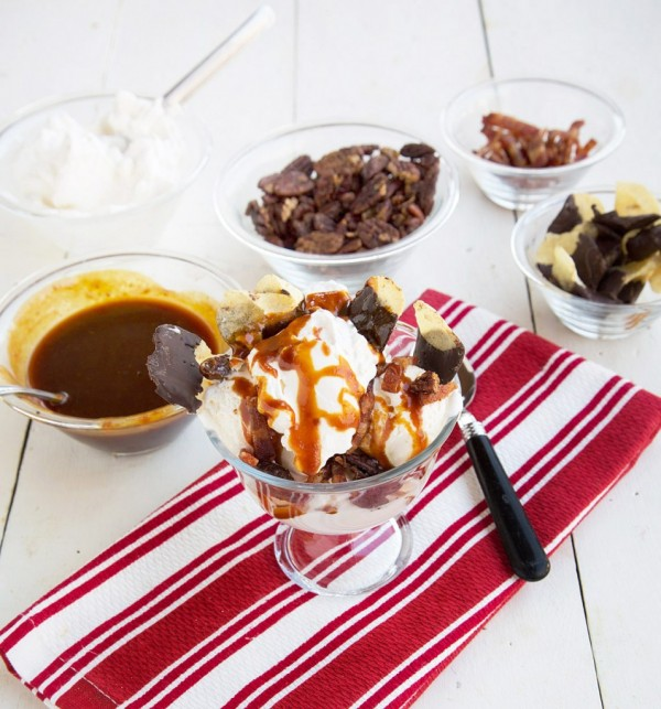 Candied Maple Bacon Sundae by A Culinary Journey with Chef Dennis