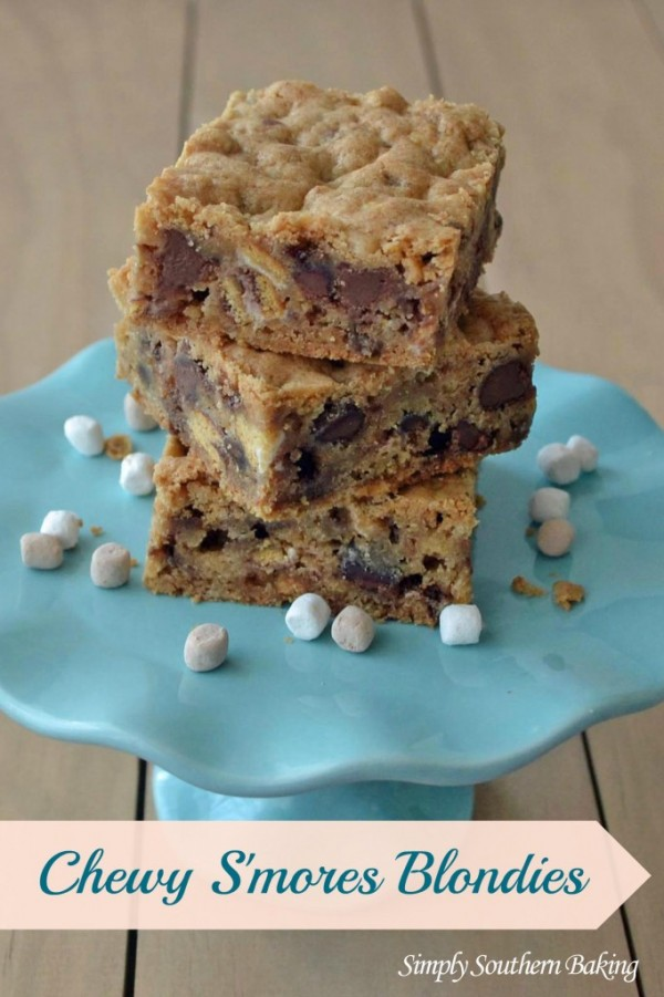 Chewy S'mores Blondies by Simply Southern Baking