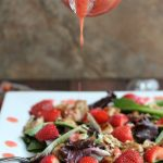 Chicken and Strawberry Salad with Strawberry Dressing & Walnuts
