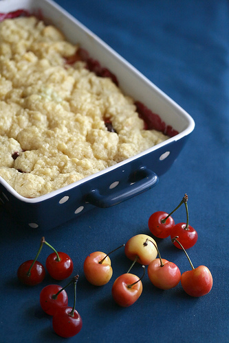 Double Cherry Almond Crumble by Crumb