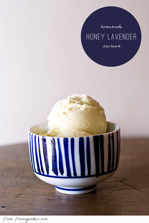 Honey Lavender Ice Cream by FrannyCakes