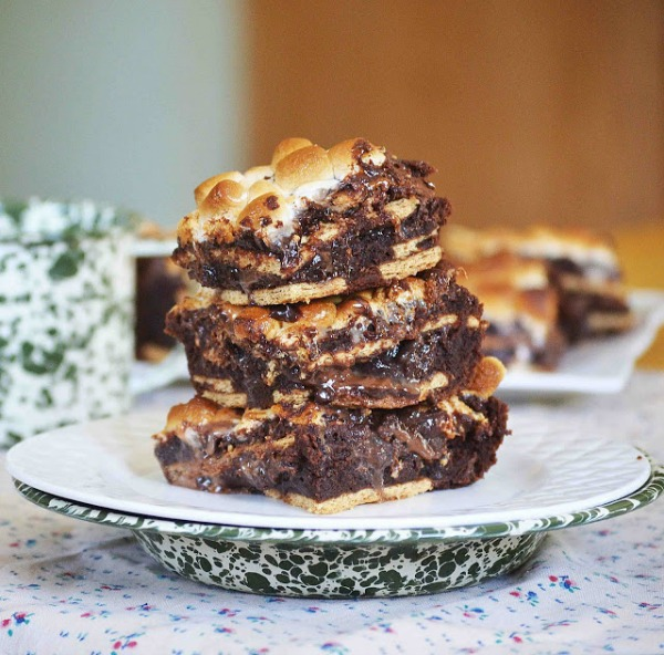 Hot Mess Brownies (S'mores Ridiculousness) by Bakeaholic Mama