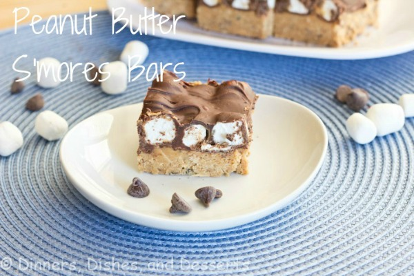 No Bake Peanut Butter S'mores Bars by Dinners Dishes and Dessert