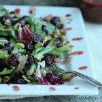 Roasted Cherry and Pistachio Salad with Roasted Cherry Vinaigrette