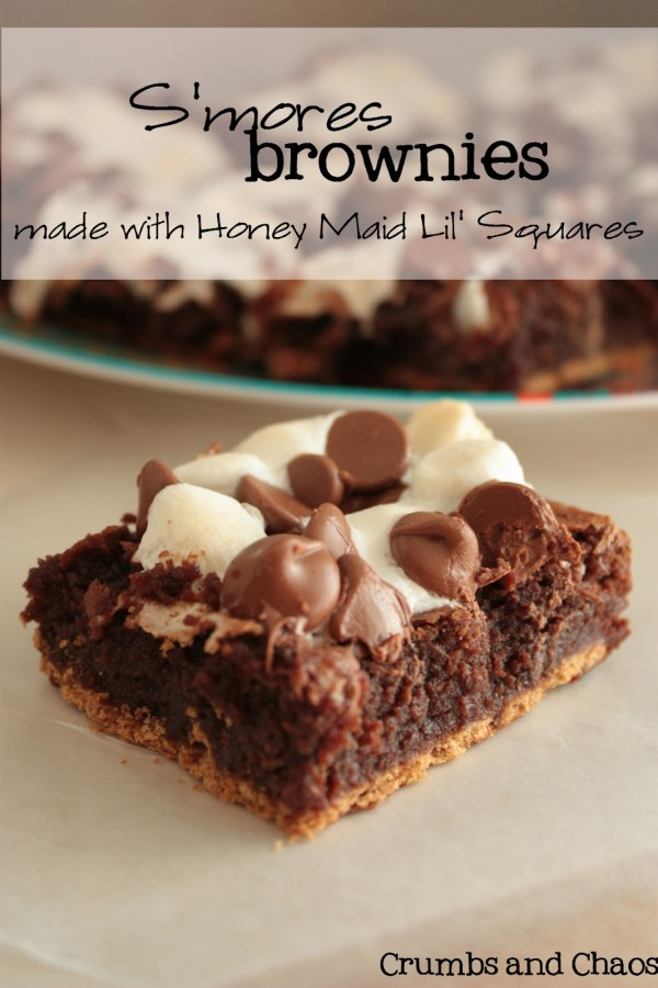 S'mores Brownies by Crumbs and Chaos