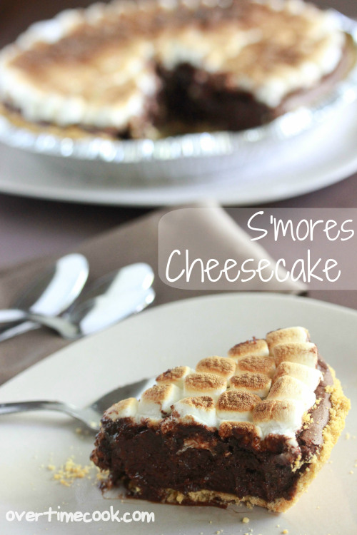 S'mores Cheesecake by Overtime Cook