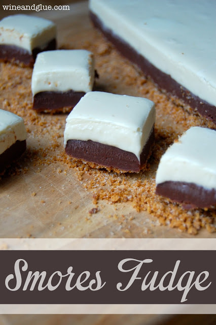 S'mores Fudge by Wine and Glue