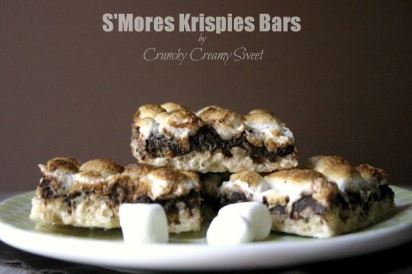 S'mores Krispie Bars by Crunchy Creamy Sweet